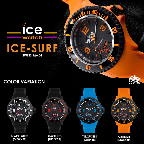 冰激淋表是冲浪额外大黑 x 白 DIBWXBR