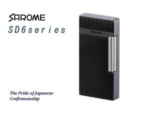SAROME TOKYO サロメ ガスライター フリントライター SD6シリーズ 黒ニッケル/ダイヤカット/ヘアライン SD6-18【送料無料】【ネコポス不可】