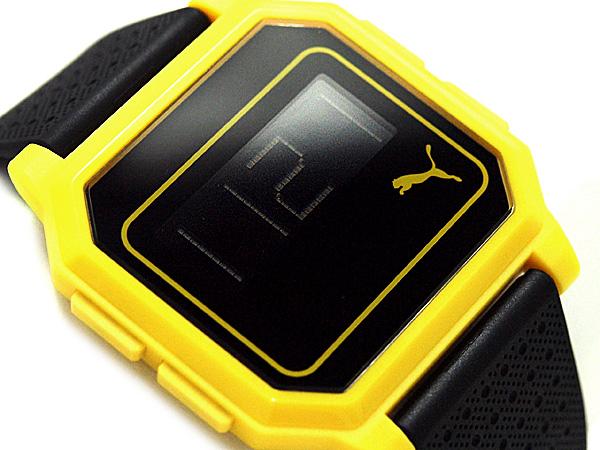 美洲狮时间性别中性的手表纯平屏幕黄色 / 黑色 PU910951002