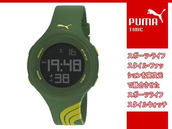 PUMA puma PUMA TIME puma thyme Twist L (twist large) digital watch green PU911091007
