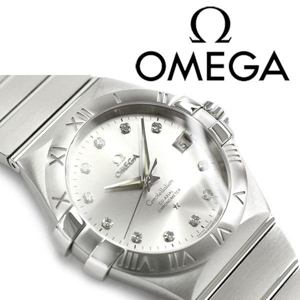 OMEGA オメガ コンステレーション 自動巻き メンズ腕時計 シルバーステンレスベルト 123.10.35.20.52.001