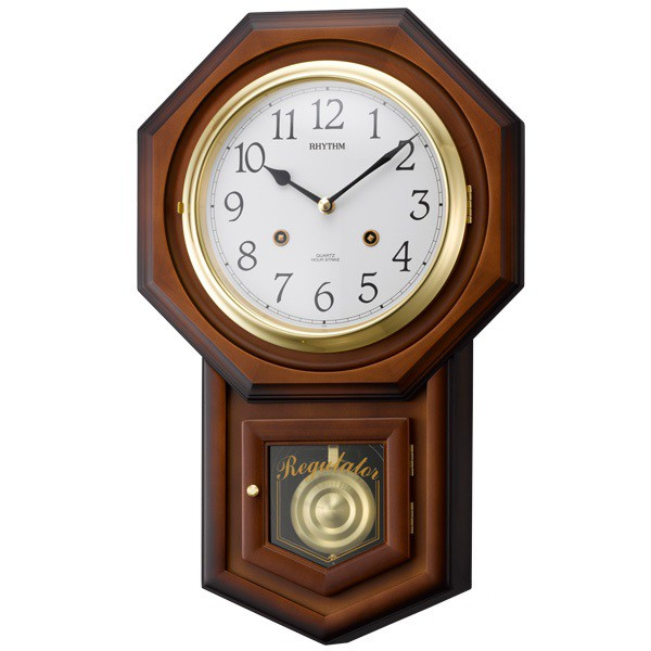 【RHYTHM】リズム工業 振子時計 フィオリータR 掛時計 4MJ770RH06 【送料無料】【ネコポス不可】