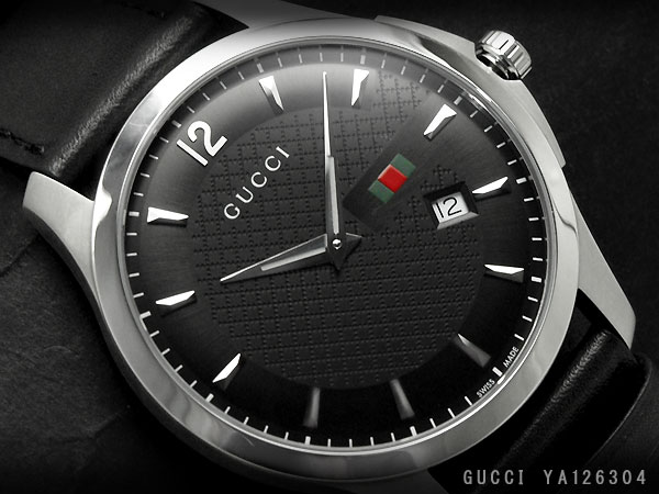 gucci 126 4. gucci men\u0027s watch g-timeless collection slim black x silver dial leather belt ya126304 126 4