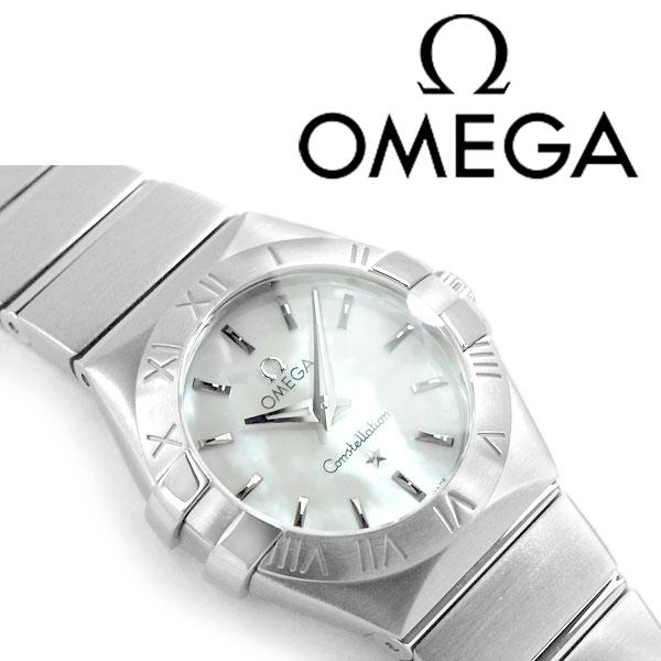 OMEGA オメガ コンステレーション レディース腕時計 ホワイトシェルダイアル ヘアライン ステンレスベルト 123.10.24.60.05.001