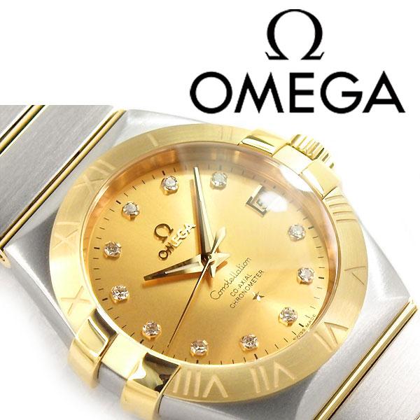 1more rakuten global market mechanical self winding omega omega mechanical self winding omega omega constellation mens watch diamond gold dial silver gold