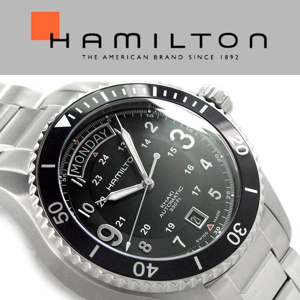 e39caf2e9e4 Hamilton khaki navy scuba men self-winding watch watch black dials Terence  belt H64515133