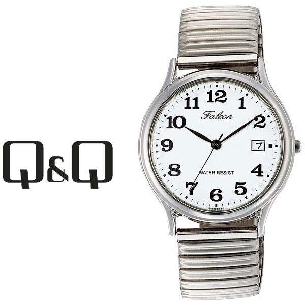 ネコポスを選んでで送料無料 レビューを書いて延長保証付き シチズン キューアンドキュー ファルコン メンズ 腕時計 ホワイト×シルバー D014-204 ネコポス送料無料 キューキュー QQ Falcon シルバー CITIZEN ホワイト × レビューを書いて1年保証 大人気! 優先配送