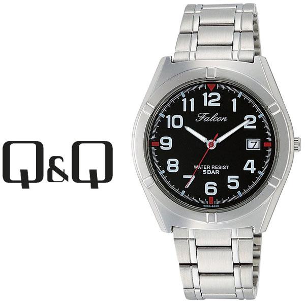 ネコポスを選んでで送料無料 レビューを書いて延長保証付き シチズン キューアンドキュー ファルコン メンズ 腕時計 ブラック×シルバー D024-205 人気の定番 レビューを書いて1年保証 × CITIZEN シルバー ネコポス送料無料 ブラック キューキュー QQ 情熱セール Falcon