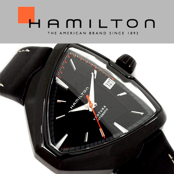 468f3cc1d05 HAMILTON Hamilton Ventura VENTURA Elvis80 Elvis men watch analog leather  (genuine leather) black H24585731 H24585731