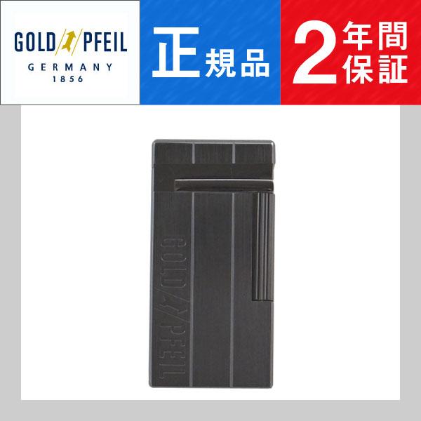 【GOLD PFEIL】ゴールドファイル ガスライター GP-1002BN ブラックニッケル【ネコポス不可】