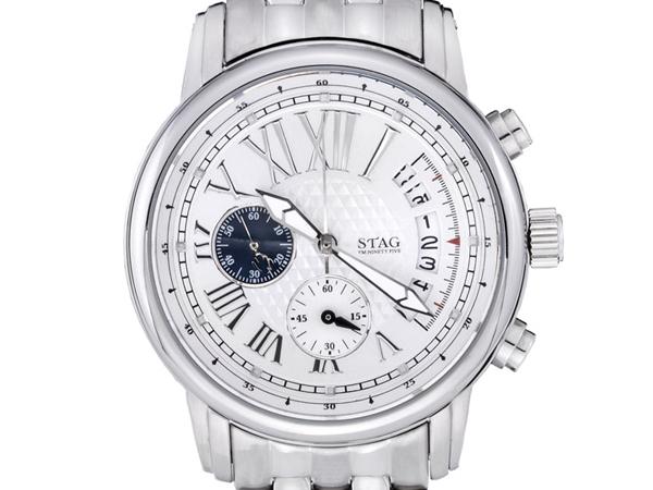 【STAG】 スタッグ Business Line メンズ腕時計 シルバーダイアル STG011S1