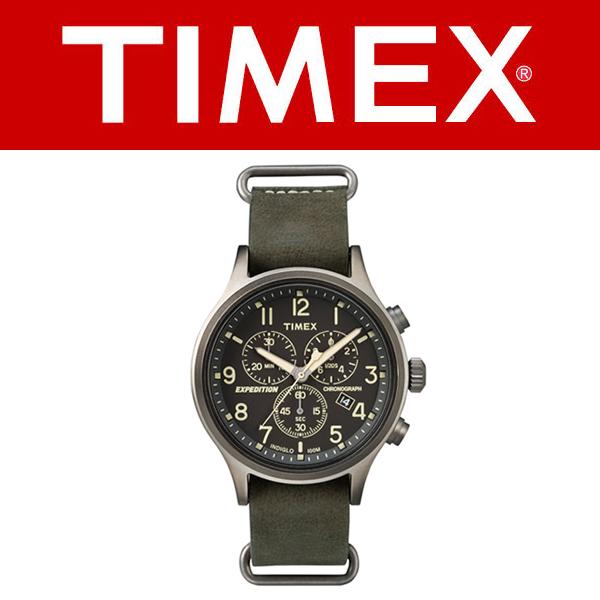 TIMEX Timex Expedition Scout遠征選拔計時儀皮革皮帶汽車鍵人手錶TW4B04100國內正規的物品