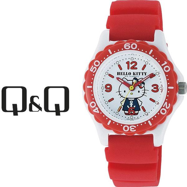 ネコポスを選んでで送料無料 レビューを書いて延長保証付き シチズン キューアンドキュー ハローキティ レディース 腕時計 正規販売店 ホワイト×レッド VQ75-232 レビューを書いて1年保証 × レッド ネコポス送料無料 ホワイト HelloKitty 高い素材 QQ キューキュー CITIZEN