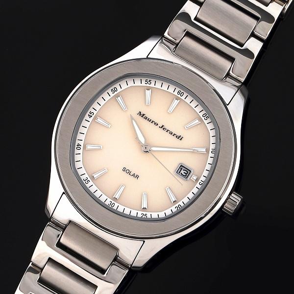 マウロジェラルディMAURO JERARDI MJ053-3 3針ソーラーモデル メンズ 腕時計