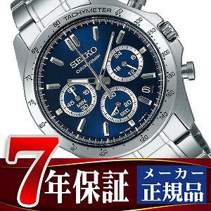 【SEIKO SPIRIT】セイコー スピリット クオーツ クロノグラフ 腕時計 メンズ ネイビー SBTR011