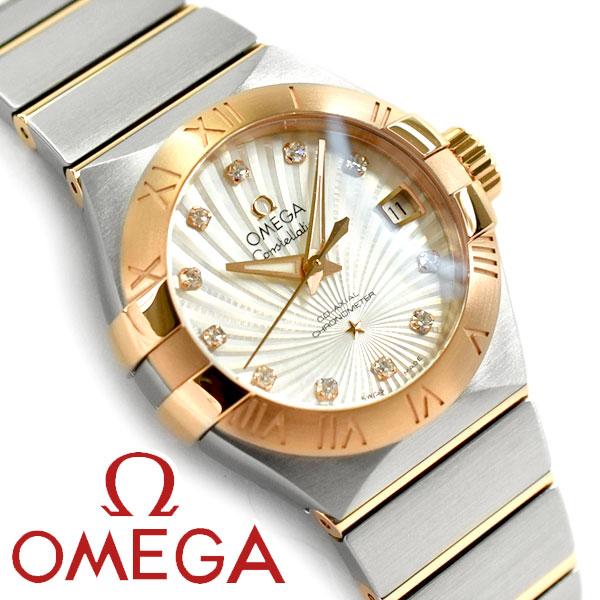 OMEGA オメガ コンステレーション 自動巻きクロノメーター レディース腕時計 27MM シルバー×ピンクゴールド ステンレスベルト 123.20.27.20.55.001