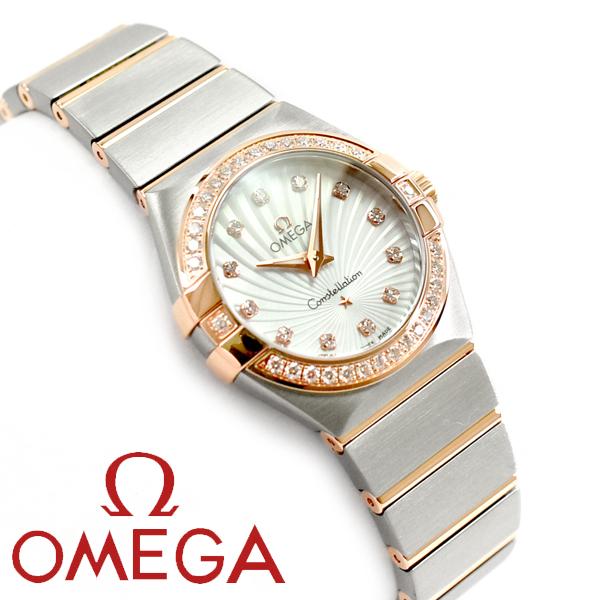 春早割 OMEGA 123.25.27.60.55.002 オメガ クォーツ コンステレーション クォーツ OMEGA レディース腕時計 27MM ホワイトダイアル シルバー×ピンクゴールド ステンレスベルト 123.25.27.60.55.002, カーキュート:d90d7805 --- greencard.progsite.com