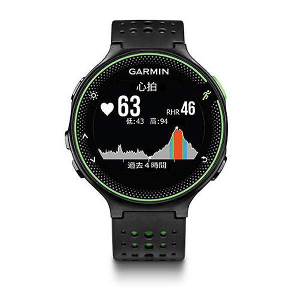 GARMIN ガーミン ForeAthlete 235J ブラックグリーン GPS機能+光学式心拍計搭載 ランニングウォッチ スマートウォッチ 37176K【あす楽】