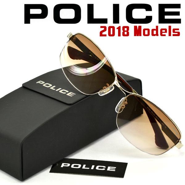 【POLICE】ポリス 2018年新作 サングラス ブラウン PL744J-08FF