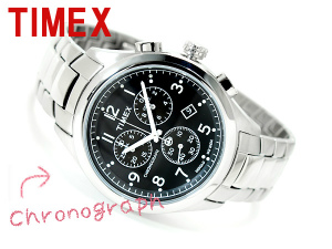 Timex T series Chronograph Watch Black stainless steel belt T2M469