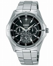 Seiko wired new standard mens watch solar multifunction black AGAD032