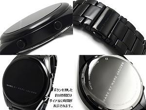 Marc Jacobs CHUCK ALUMINUM LED digital Unisex Watch-all black MBM3531