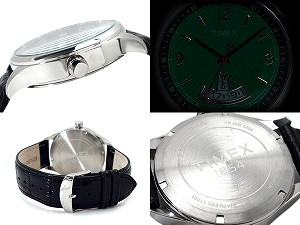 Timex T-Series mens Chronograph Watch Black Dial black leather belt T2N216