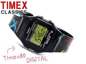 Timex 80 CLASSICS海外型號男女兩用數碼手錶黑色T2N548