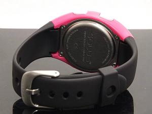 索RAS休閒800行走跑步健康手錶消費熱量脉搏數測量功能粉紅黑色01-800-206