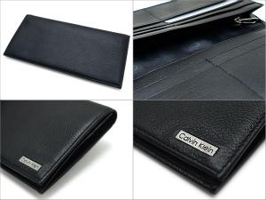 Calvin Klein wallet wallet men's long wallet black 79219