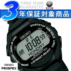 8d7282be63 【SEIKOPROSPEX】セイコープロスペックススーパーランナーズデジタル腕時計ランニングウォッチブラック×ブラック