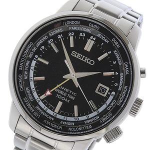 【逆輸入 SEIKO】逆輸入セイコー SEIKO キネティック メンズ 腕時計 SUN069P1 ブラック