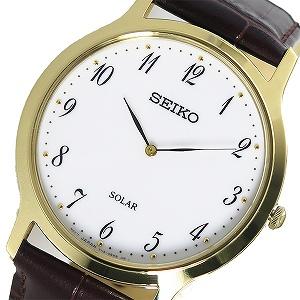 【逆輸入 SEIKO】逆輸入セイコー SEIKO ソーラー ユニセックス 腕時計 SUP860P1 ホワイト