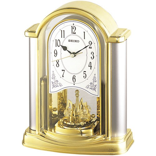 Exceptionnel SEIKO Table Clock Gold BY418G ...