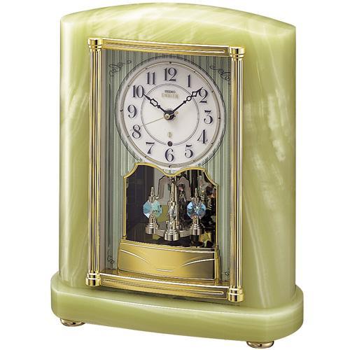 【SEIKO CLOCK EMBLEM】セイコー エムブレム オーセンティック 電波置時計 スワロフスキー HW521M