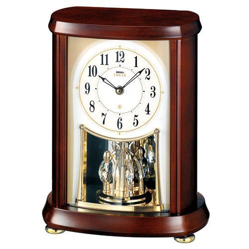 【SEIKO CLOCK EMBLEM】セイコー エムブレム オーセンティック 電波置時計 スワロフスキー HW566B【送料無料】【ネコポス不可】