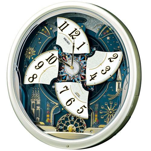 【SEIKO CLOCK】セイコー ウエーブシンフォニー からくり 電波掛時計 RE561H