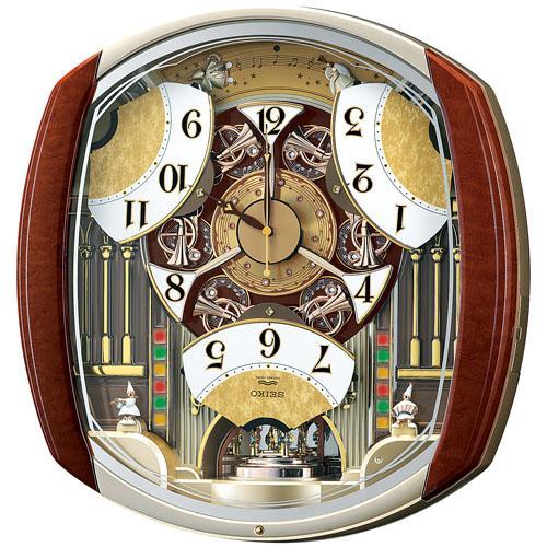 【SEIKO CLOCK】セイコー ウエーブシンフォニー からくり 電波掛時計 RE564H