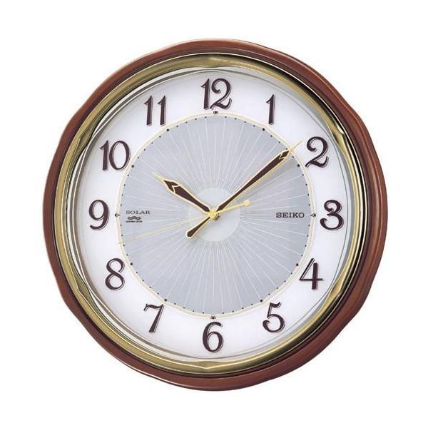 【SEIKO CLOCK】セイコー SOLAR+ ソーラープラス 木枠 電波掛時計 SF221B