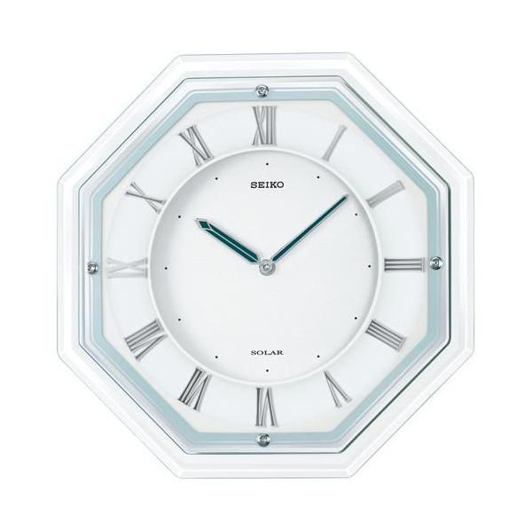 【SEIKO CLOCK】セイコー SOLAR+ ソーラープラス 薄型 木枠 電波掛時計 SF503W【送料無料】【ネコポス不可】