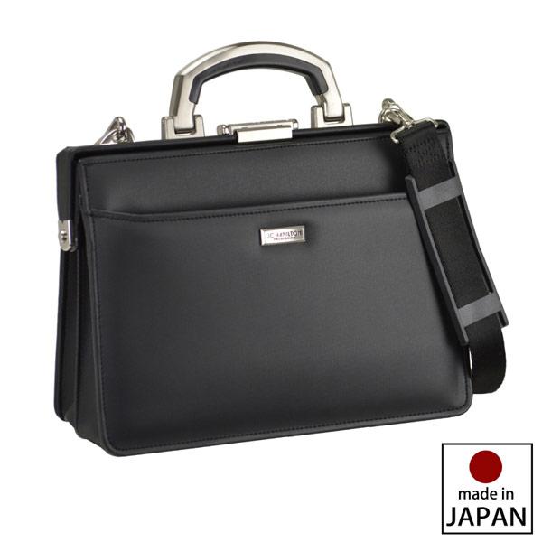 【JC HAMILTON】 ジェーシーハミルトン ビジネスバッグ メンズ 豊岡製鞄 日本製 合成皮革 ブラック 22341-1