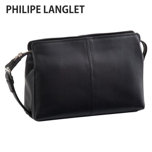 【PHILIPE LANGLET】 フィリップラングレー メンズ セカンドバッグ 豊岡製鞄 日本製 ブラック 25681-1