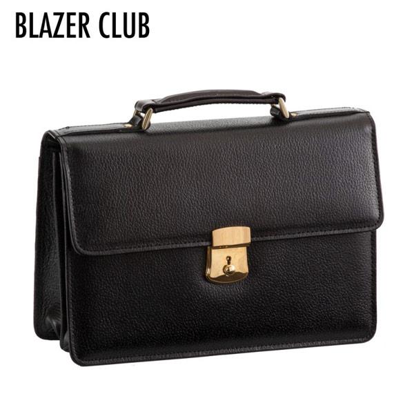 【BLAZER CLUB】 ブレザークラブ メンズ セカンドバッグ 豊岡製鞄 日本製 牛革 ブラック 25824-1