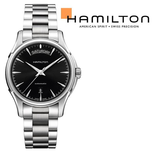 ハミルトン HAMILTON 自動巻き+手巻き式 メンズ機械式 ジャズマスターデイデイト マットブラックダイアル ステンレスベルト H32505131 腕時計