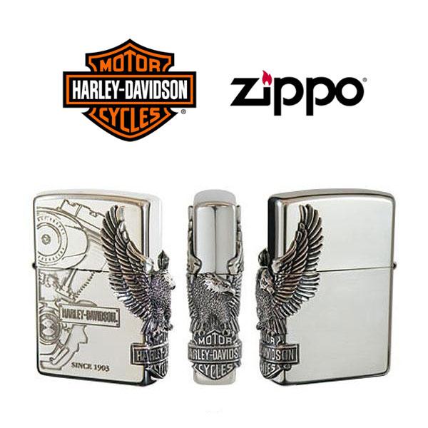 【ZIPPO Harley‐Davidson】ジッポオイルライター ハーレーダビッドソン サイドメタル シルバーイブシベース×エッチング×シルバーイブシメタル HDP-03【送料無料】【流通限定品】【ネコポス不可】