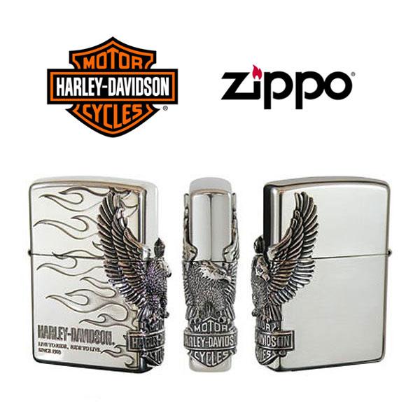 【ZIPPO Harley‐Davidson】ジッポオイルライター ハーレーダビッドソン サイドメタル シルバーイブシベース×エッチング×シルバーイブシメタル HDP-04【送料無料】【流通限定品】【ネコポス不可】