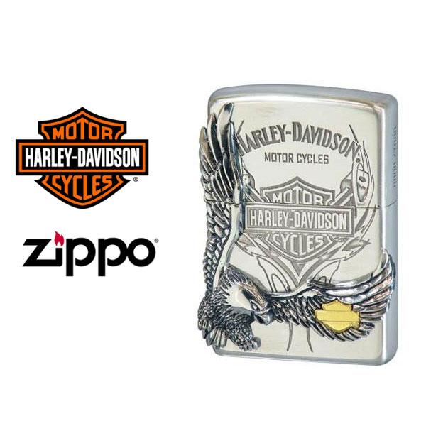 限定モデル 【ZIPPO シルバーイブシ×シルバーイブシメタル HDP-16【送料無料】【流通限定品】【ネコポス不可】 Harley‐Davidson】ジッポオイルライター ハーレーダビッドソン サイドメタルベース