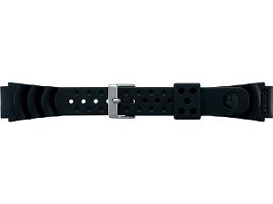 【SEIKO BAND】18mm セイコー 替えベルト ウレタンベルト 紳士用 黒色 DB71BP【正規品】【返品不可】【ネコポス可】
