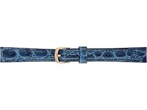 【SEIKO BAND】11mm セイコー 替えベルト 牛革ワニ型押し(切身はっ水ステッチ付) 婦人用 青色 DE86【正規品】【返品不可】【ネコポス可】
