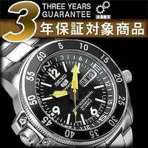 セイコー セイコー5 スポーツ SEIKO5 SPORTS セイコーファイブスポーツ メンズ 腕時計 SKZ211J ダイバー セイコー 逆輸入 自動巻き メカニカル ブラック アトラス 黒 メタルベルト 日本製 SEIKO SKZ211J1 SKZ211JC